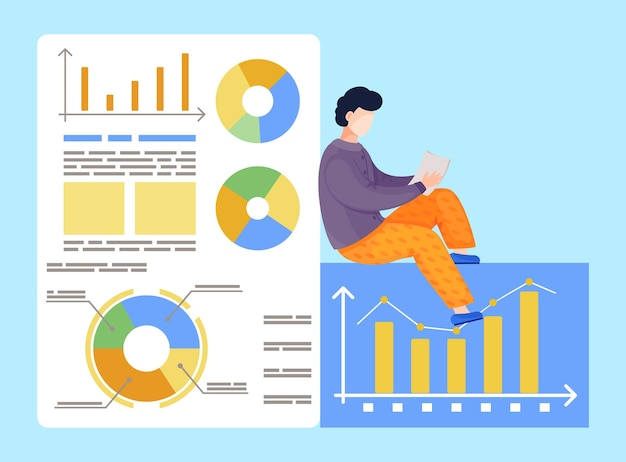 Pracownik wykonujący analizy, analizujący wykresy, diagram, wykres