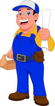 Pracowników projektów budowlanych pozowanie