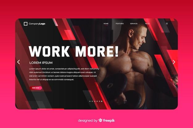Pracuj więcej sportową stronę docelową