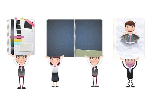 Pracy koncepcji broszura szablonu firmy
