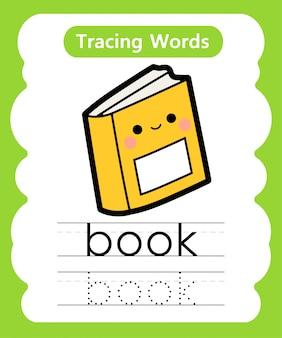 Praktyka pisania słów: śledzenie alfabetu b - książka