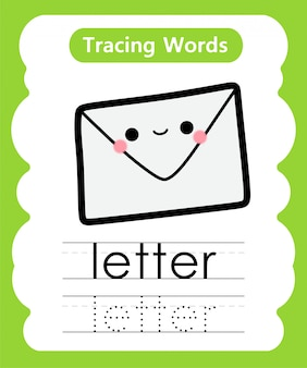 Praktyka pisania słów: śledzenie alfabetu l - litera