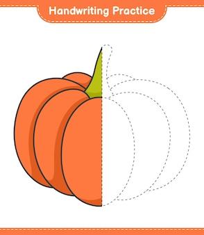Praktyka pisma ręcznego śledzenie linii dyniowych gier edukacyjnych dla dzieci do wydrukowania