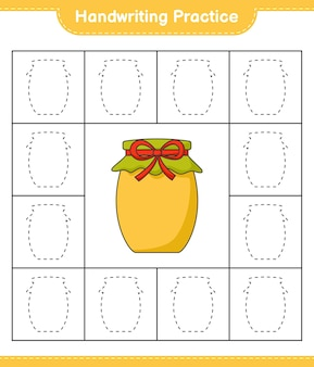 Praktyka pisma ręcznego śledzenie linii gry edukacyjnej dla dzieci jam arkusz do wydrukowania
