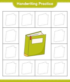 Praktyka pisma ręcznego śledzenie linii książki edukacyjne gry dla dzieci arkusz do druku