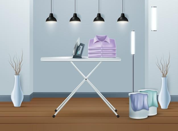 Pralka w nowoczesnej pralni
