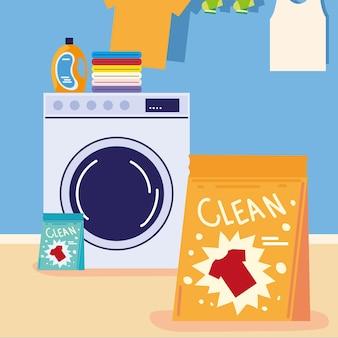 Pranie odzieży w pralce