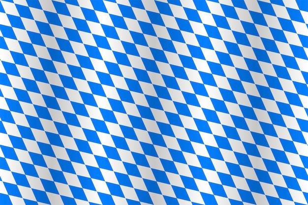Prawdziwa bezszwowa tkanina flagi państwowej bawarii.