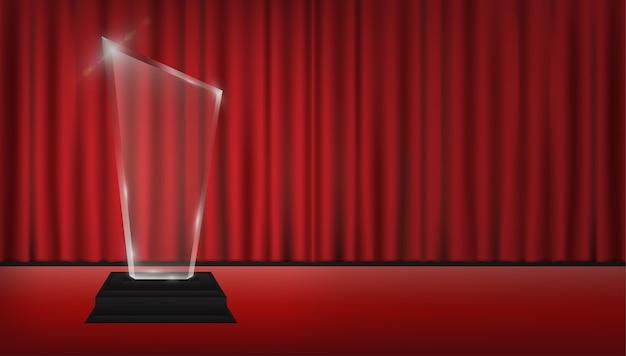 Prawdziwe 3d przezroczyste trofeum akrylowe