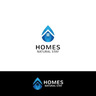 Prawdziwe logo nieruchomości w kształcie kropli