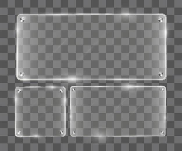 Prawdziwe przezroczyste szkło akrylowe transparent wektor tablicy
