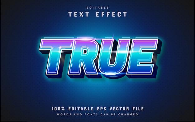 Prawdziwy efekt tekstowy z gradientem