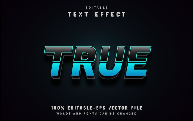 Prawdziwy niebieski efekt tekstowy gradientu
