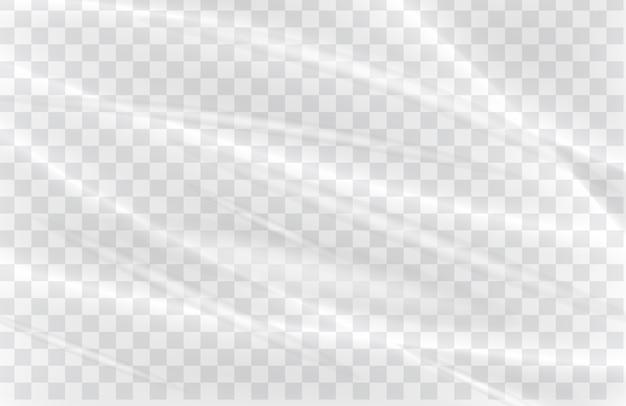Prawdziwy przezroczysty plastikowy opakunek tekstura tło wektor