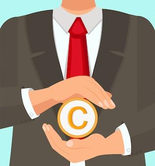 Prawnik doświadczony prawnik chroni prawa autorskie.