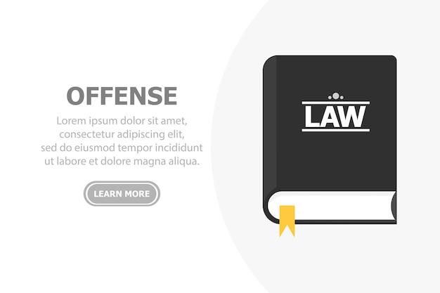 Prawo czarnej księgi jest przedstawione na białym tle po lewej stronie znajduje się tekst i spód przycisku.
