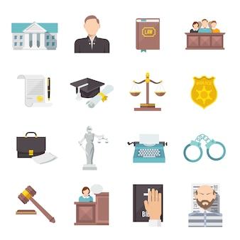 Prawo ikona płaskie