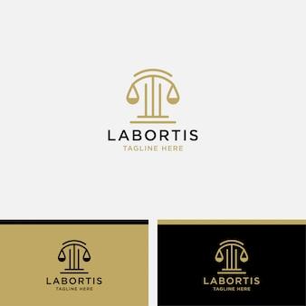 Prawo logo szablon ikona ilustracja