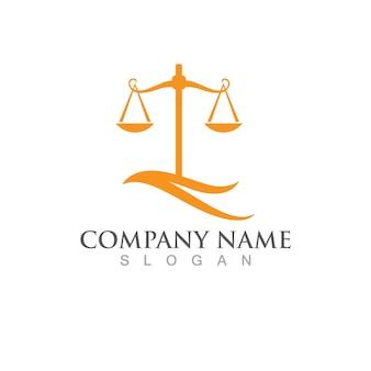 Prawo sprawiedliwości logo szablon wektor illusutration projekt
