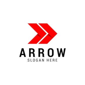 Prawo strzałki projektowanie logo firmy, koncepcja biznesowa