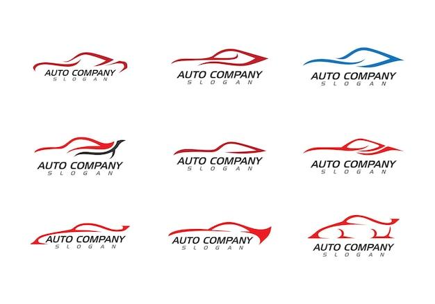 Prędkość Auto Samochód Logo Szablon Wektor Ikona Premium Wektorów