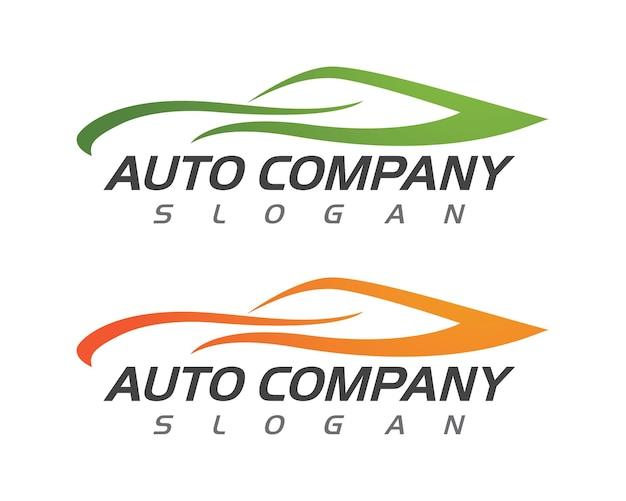 Prędkość Auto Samochód Logo Szablon Wektor Ilustracja Ikona Design Premium Wektorów