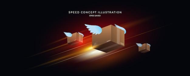 Prędkość ilustracji, szybkie tło