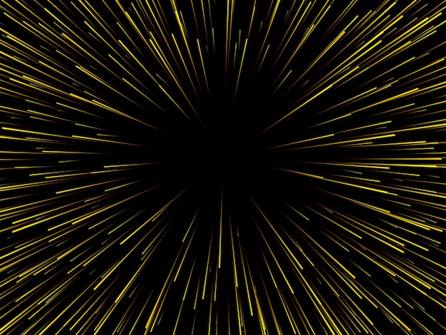 Prędkość kosmiczna. abstrakcyjne linie dynamiczne starburst lub promienie.