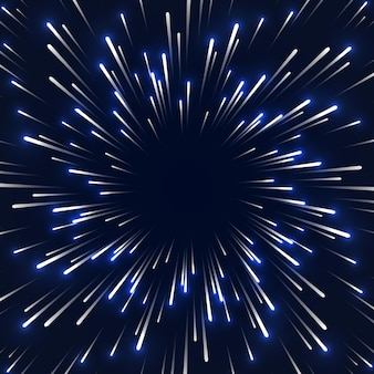 Prędkość kosmiczna tło rozmycie światła ruchu ślady ruchu cząstek