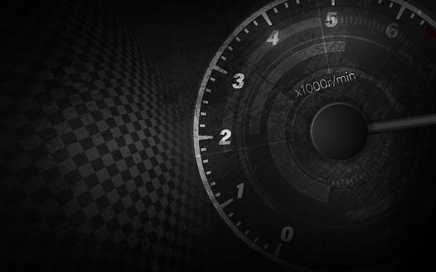 Prędkość ruchu tło z szybkiego prędkościomierza samochodem. wyścigi prędkości tło.