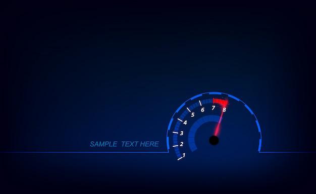 Prędkość ruchu tło z szybkiego prędkościomierza samochodem.