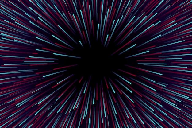 Prędkość światła czerwonego i niebieskiego tła