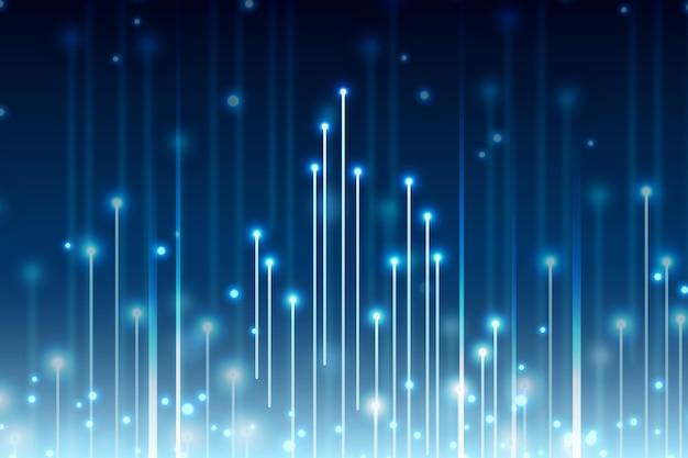 Prędkość światła kopii przestrzeni cyfrowe tło