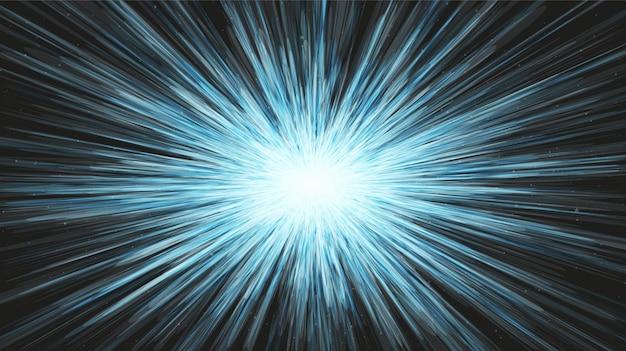 Prędkość światła na tle galaktyki.