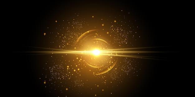 Prędkość światła w kosmosie światła świecące na nocnym niebie