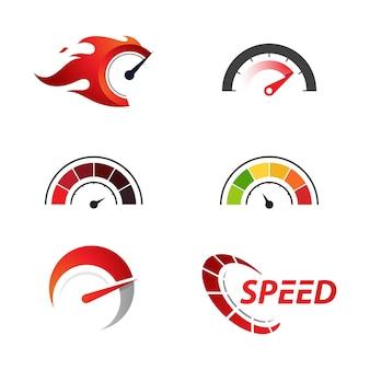 Prędkościomierz wektor ilustracja ikona design