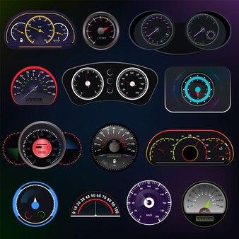 Prędkościomierz wektorowy panel deski rozdzielczej prędkości samochodu i projekt pomiaru mocy przyspieszenia zestaw technologii kontroli ograniczenia prędkości ze strzałką