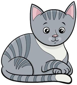 Pręgowany kot lub kotek postać z kreskówki