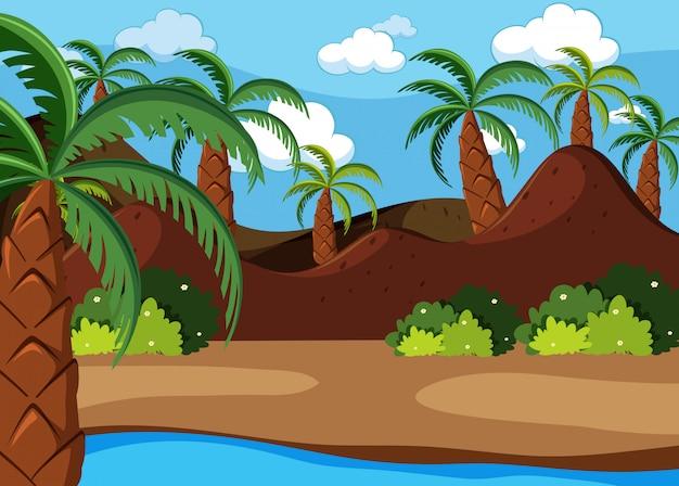 Prehistoryczna scena natury