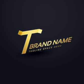 Premii litery t szablonu projektu koncepcji logo
