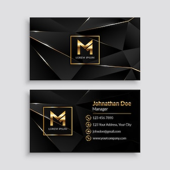 Premium classy gold business card template