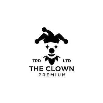 Premium clown joker logo ikona projektowania ilustracji wektorowych