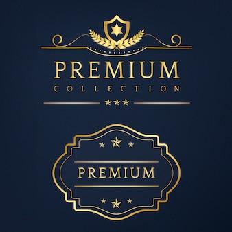 Premium collection odznak projekt wektor