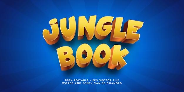 Premium efekt edytowalnego tekstu w stylu książki dżungli