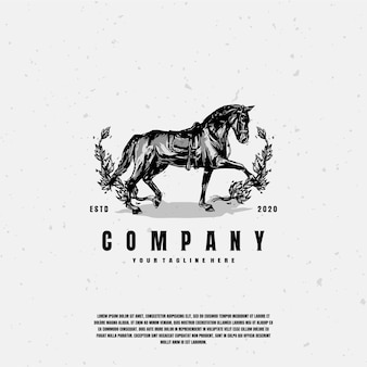 Premium ilustracja szkic konia
