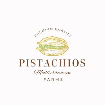 Premium jakości pistacje abstrakcyjny znak