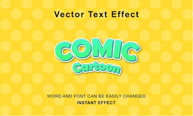 Premium komiks kreskówka efekt tekst projekt wektor koncepcja