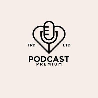 Premium logo wektor podcast opieki zdrowotnej