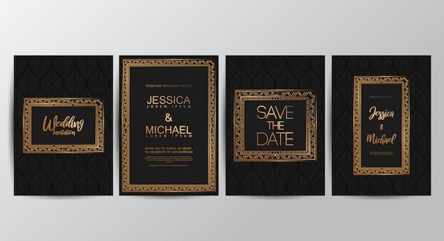Premium luksusowe zaproszenia ślubne