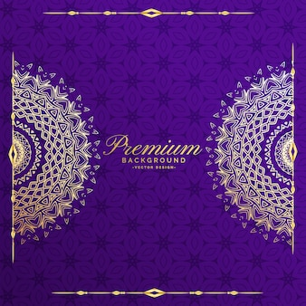 Premium mandala zaproszenie szablon tło